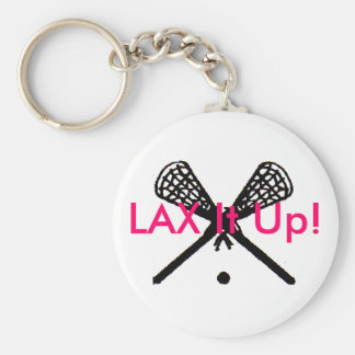 LAX It Up! Basic Round Button Key Ring