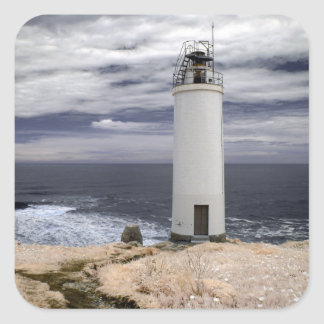 Laxe Lighthouse | Galicia, Spain Square Sticker