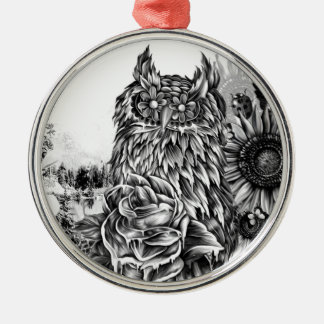 Lay of the land, floral owl christmas tree ornaments