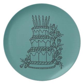 Layer Cake Line Art Design Plate