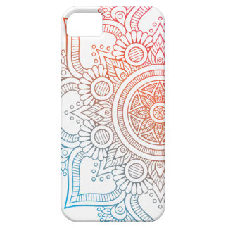 Layer for cellular with mandala colored iPhone 5 cover