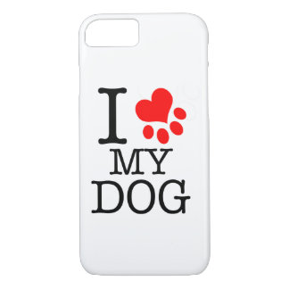 Layer of cellular I love my dog iPhone 8/7 Case
