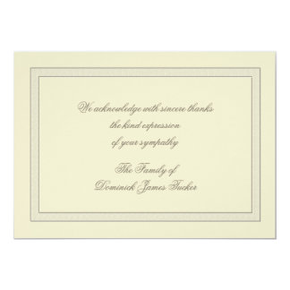Layered Bereavement Thank You Notecard 13 Cm X 18 Cm Invitation Card