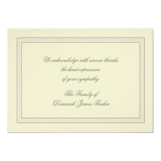 Layered Bereavement Thank You Notecard 13 Cm X 18 Cm Invitation Card