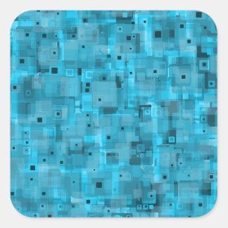 Layered Blue Square Sticker