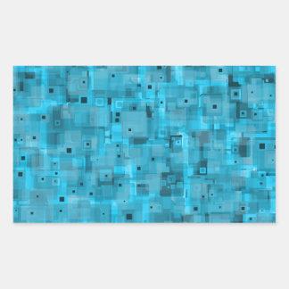 Layered Blue Rectangular Sticker