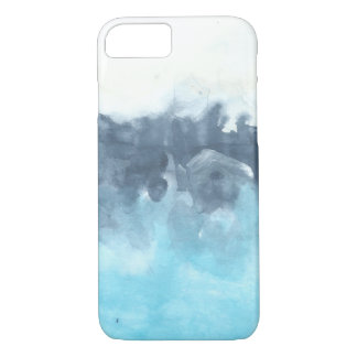 Layered Blues Abstract Painting iPhone 7 Case