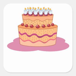 Layered Cake Square Stickers