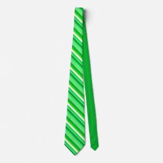 Layered candy stripes - emerald green and white tie