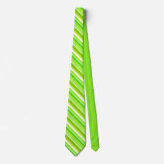 Layered candy stripes - lime green and white tie