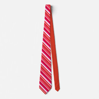 Layered candy stripes - red, pink and white tie