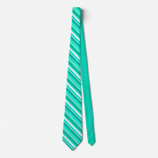 Layered candy stripes - turquoise and white tie