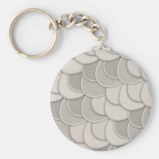 Layered Gray Circles Keychains