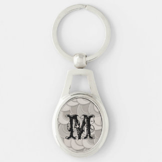 Layered Gray Circles Keychain