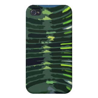 Layered Green Rock Formations - Artistic Work iPhone 4/4S Covers