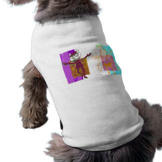 Layered Maroon Naughty & Orange Nice Dancers Sleeveless Dog Shirt