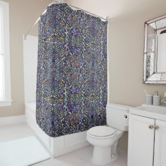 Layered Patterns Shower Curtain