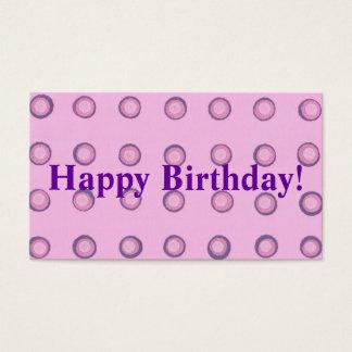 Layered Pink Purple Polka Dots Happy Birthday Tags