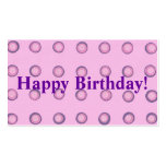 Layered Pink Purple Polka Dots Happy Birthday Tags Pack Of Standard Business Cards
