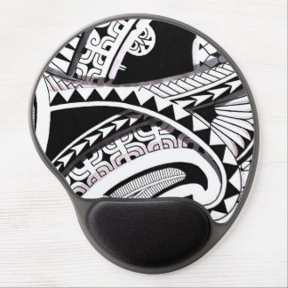 Layered Polynesian black tattoo design spearheads Gel Mousepad