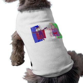 Layered Purple Naughty Magenta Nice Dancers Doggie Tshirt