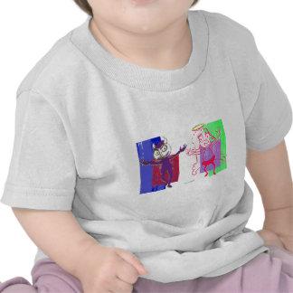 Layered Purple Naughty Magenta Nice Dancers Shirts