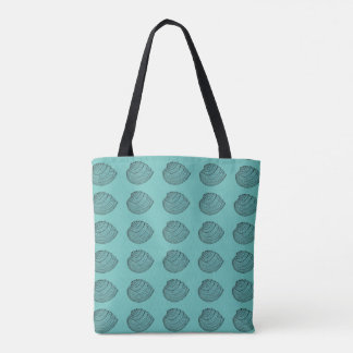 Layered Seashell Pattern Tote Bag