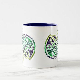 """Layers"" Celtic Knot Two-Tone Coffee Mug"