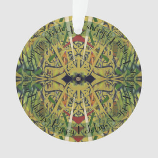 Layers in Yellow and Green Abstract Ornament