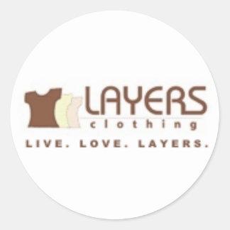 Layers Logo[1] Round Stickers