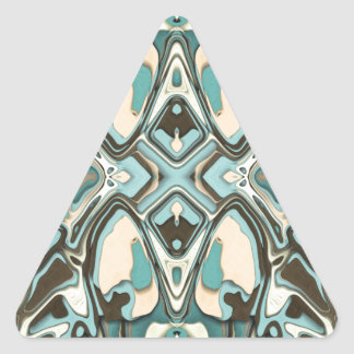 Layers of Abstract 1 Triangle Sticker