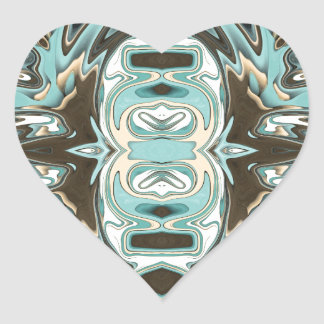 Layers of Abstract 2 Heart Sticker