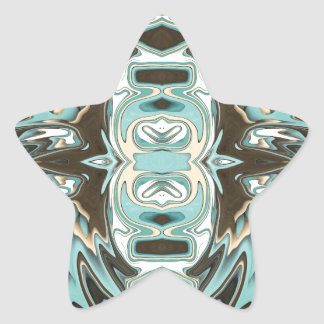 Layers of Abstract 2 Star Sticker