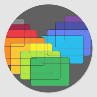 Layers of Color Collection Round Stickers