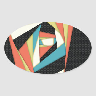 Layers of Color Oval Sticker