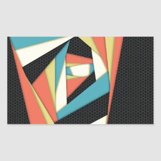 Layers of Color Rectangular Sticker