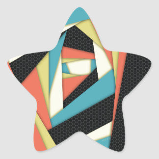 Layers of Color Star Sticker