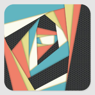 Layers of Color Square Stickers