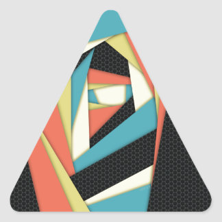 Layers of Color Triangle Sticker
