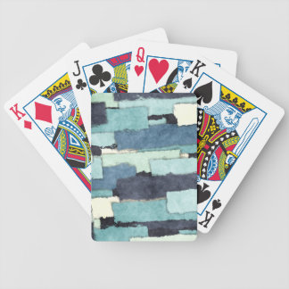 Layers of Colors Pattern Bicycle Playing Cards