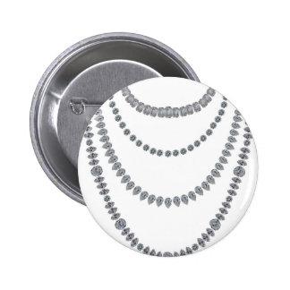 Layers of Diamonds 6 Cm Round Badge