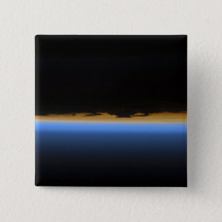 Layers of Earth's atmosphere 15 Cm Square Badge