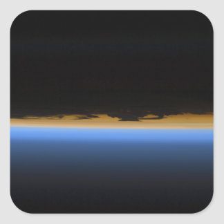 Layers of Earth's atmosphere Square Sticker