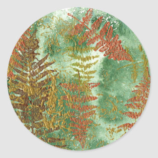 Layers of Leaves Round Sticker
