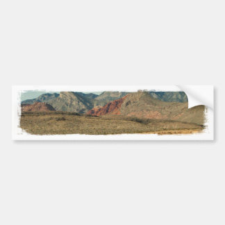 Layers of Red Rock Bumper Sticker