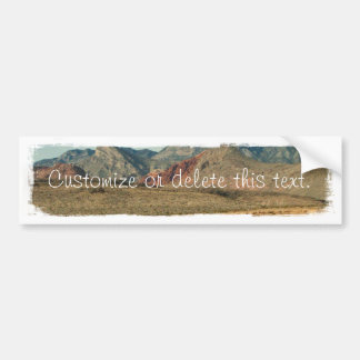 Layers of Red Rock; Customizable Bumper Sticker