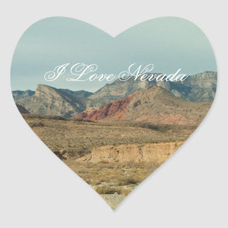 Layers of Red Rock; Nevada Souvenir Stickers