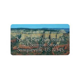 Layers of Red Rocks I in Sedona Arizona Address Label
