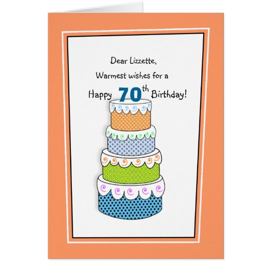 Layers of Wishes 70th or Any Age Birthday