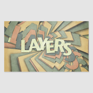 Layers Rectangle Sticker